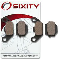 Sixity Organic Brake Pads  FA128 FA128  Front + Rear Replacement Kit Full fk