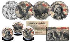 NATIVE AMERICAN SYMBOL JFK Half Dollar 3-Coin Set BLACK EAGLE INDIAN CHIEF BISON