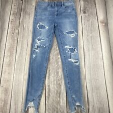 AEO AMERICAN EAGLE OUTFITTERS WOMENS DISTRESSED DESTROYED JEGGINGS SIZE 4 REG