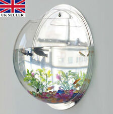 New Wall Mounted Fish Tank Bowl Bubble Aquarium Hanging Terrarium Goldfish Betta