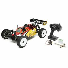 New 1/8 Scale RC Losi 8IGHT 4WD Buggy Nitro RTR Red Yellow With Radio