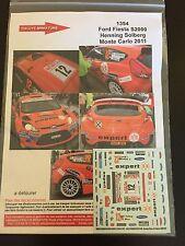 DECALS 1/43 FORD FIESTA S2000 HENNING SOLBERG RALLYE MONTE CARLO 2011 RALLY WRC