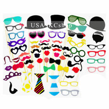 New 58pcs Decorations Photo Booth Props Wedding Christmas Birthday Party Masks