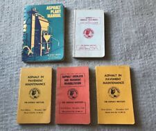 Lot Of 5 ASPHALT BOOKS OVERLAYS AND PAVEMENT, PLANT, SURFACE TREATMENTS
