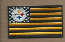 NEW 2 3/8 X 4 INCH PITTSBURGH STEELERS FLAG IRON ON PATCH FREE SHIPPING PS1