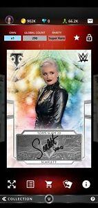 Topps WWE SLAM Digital 2020 Triple Threads Silver Signature Scarlett