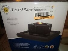 "New Catalina Creations Tabletop Fire and Water Fountain NIB 14"" x 14"""