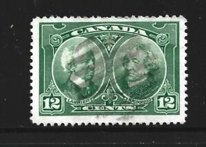 CANADA – 1927 – CONFEDERATION ISSUE – 12 Cent, Green Color – Scott # 147 – USED