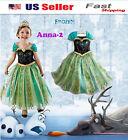 NEW Girls Disney Elsa Frozen dress costume Princess Anna party dress cosplay k13