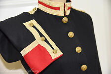 Denim & Supply Ralph Lauren Wool Military Army Officer Black Coat Jacket M $298.
