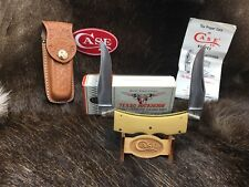 1980 Case Texas Lockhorn Knife With Micarta Handles & Sheath Mint In Factory Box