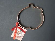 Extra Large Copper PUMPKIN Halloween Thanksgiving Cookie Cutter 5.5 In  NEW (F)