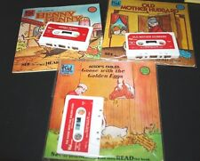 Childrens Read Along Book Cassette Lot Henny Penny Old Mother Hubbard Goose