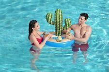 BESTWAY Inflatable Cactus Cacti 6 Drinks Holder Multiple Snacks Swimming Pool