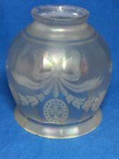 Victorian art glass etched Verre de Soie lamp shade