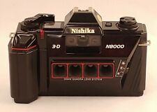 Nishika N8000 3-D Stereo Camera Quadra Lens with Case & Video