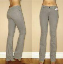 Rich&Skinny $165 Soft Gray Slim Boot Straight Leg Strch Mid-Rise Jeans X-Long 24