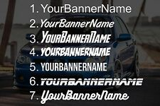 Custom Your Banner Team Name Car Group Decal Sticker - Cambergang Subieflow JDM