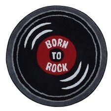 "BORN TO ROCK TEENS BOYS DECORATIVE RUG 100% COTTON (31.50"" Diameter)"