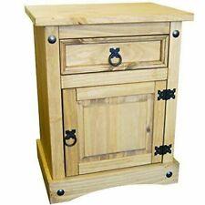 Vida Designs Corona 1-Drawer 1-Door Bedside Cabinet Chest - Mexican Solid Pine