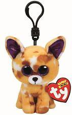 PABLO CHIHAUHAU DOG - Ty Beanie Boos Keyring Key Clip - Plush Boo Babies Teddy