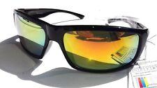 Lunette soleil jaune pour homme modèle sportif  +  Pochette à lunette.