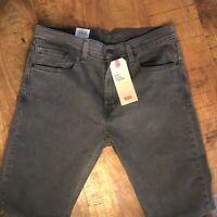 Levi's 512 Jeans Slim Taper Stretch Black 288330108 Mens 32x32