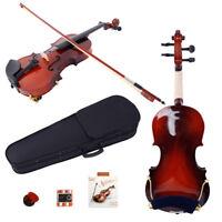 New 1/8 Acoustic Violin + Case + Bow + Rosin + Strings + Tuner + Shoulder Rest