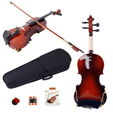 New 1/8 Acoustic Violin + Case + Bow + Rosin + Strings + Tuner + Shoulder Rest