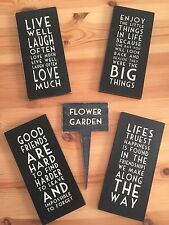 Wooden Free Standing Decorative Plaques & Signs