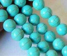15'' Round  Gren Turkey Turquoise Gemstone Loose Bead 10mm