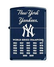Zippo 8221, New York Yankees, MLB, Navy Blue Matte, 27 Times World Champions