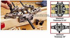 Matching Four Hole Doweling Jig Drill Bit Guide Self-aligning Wood Shelf Dowel