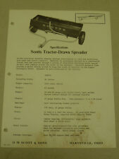 VINTAGE Scotts TRACTOR DRAWN SPREADER #100T-4 SPEC SHEET