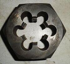 """BSF 7/8"""" X 11  LH left handed. Parallel Hex Die Nut, P&N"""