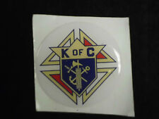 KNIGHTS OF COLUMBUS K OF C FULL COLOR 2 INCH EPOXY DOME CAR DECAL STICKER EMBLEM