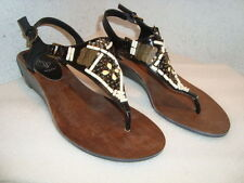 Baby Phat Womens NWOB Zara Black Sandals Shoes 7.5 MED NEW