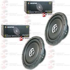 "2 x Brand New Memphis 10"" Dual 4-Ohm Car Audio Dvc Subwoofer 500 Watts Max"