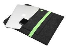 "Retina de MacBook Pro 13.3 ""fieltro gris manga verde cubierta portátil bolsa de aire"