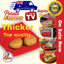 Thicker Microwave Baked Potato Corn Cooking Bag Reusable Washable Cooker Express