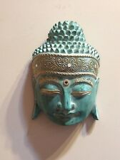 BALINESE HANDCARVED TIMBER BUDDHA HEAD PLAQUE