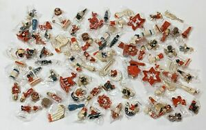VTG Lot of 95+ Regular Small & Mini Wood Hand Painted Christmas Ornaments NEW