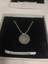 King John Penny WE-KJPCOIN Emblem on Silver Platinum Plated Necklace 18""