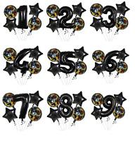 Lego Batman Balloon Kit BLACK 30'' Age Number Happy Birthday 5 Party Balloons