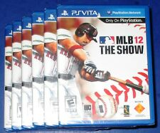 Lot of 6 MLB: The Show 12 Sony Playstation Vita *Factory Sealed! *Free Shipping!