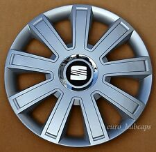"Silver   15"" wheel trims, Hub Caps, Covers to fit Seat Ibiza,Leon"