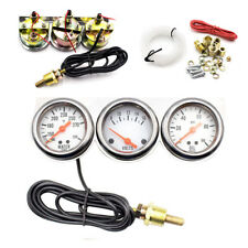 Water Temp Voltage Oil Pressure Triple 3 Gauge Set Multifunctional instrument
