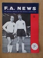 F.A. NEWS JOURNAL OF THE FOOTBALL ASSOCIATION MAY 1965 JACK & BOBBY CHARLTON