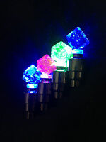 (1) DICE Led Valve CAP Bike Bicycle Wheel Stem tire flash Light lamp FOR CYCLING