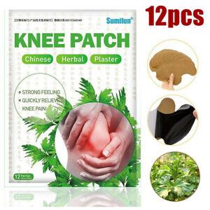 12x Kniegelenk Schmerzlinderung Patch Extrakt Pflaster Wermut Arthritis Pad DE